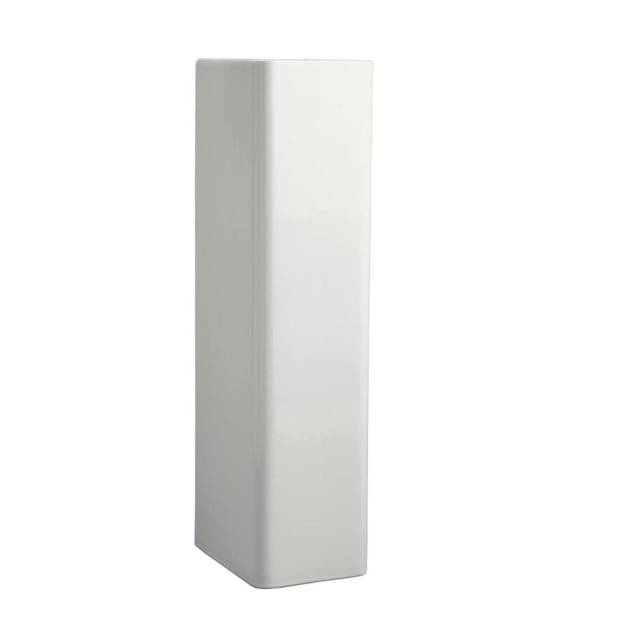 KOHLER Reve 29.375-in H White Fireclay Pedestal Sink Base