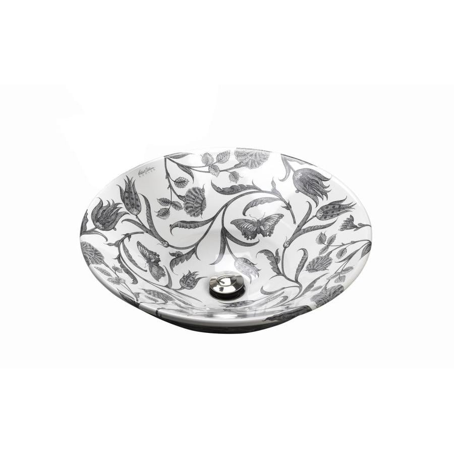 KOHLER Artist Editions Conical Bell Botanical Study Vessel Round Bathroom Sink
