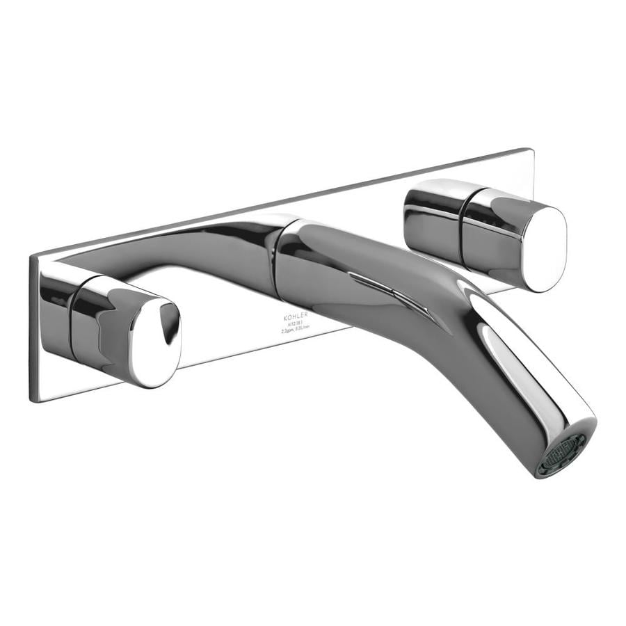 KOHLER Oblo Polished Chrome 2-Handle Widespread WaterSense Bathroom Faucet