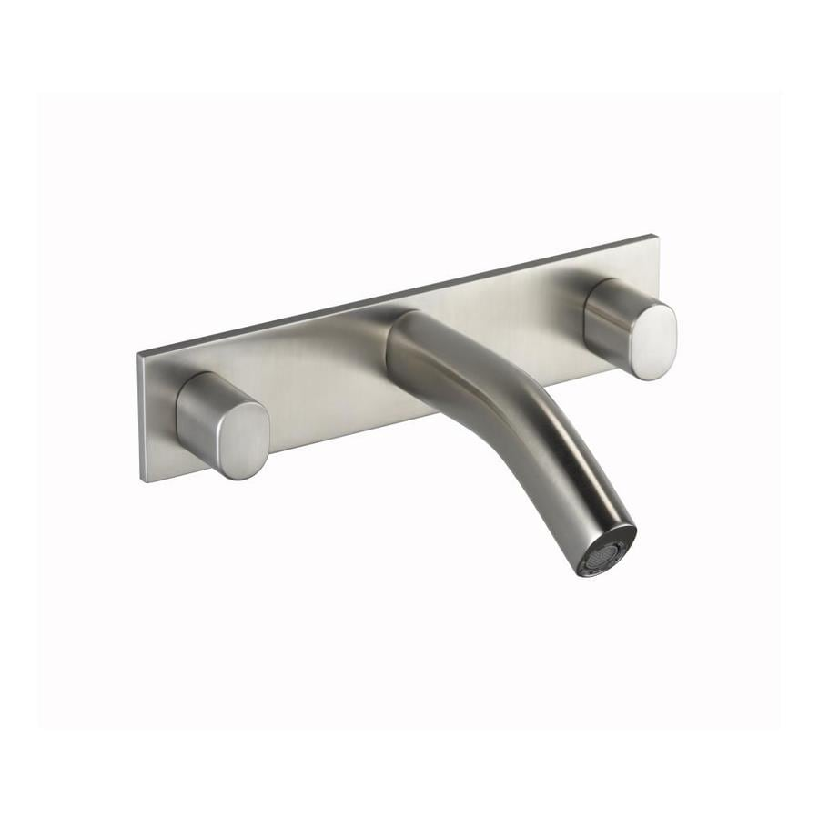 Shop KOHLER Oblo Vibrant Brushed Nickel 2 Handle Widespread WaterSense Bathro