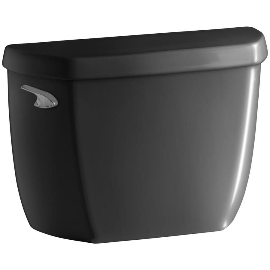 KOHLER Wellworth Black Black 1.28-GPF (4.85-LPF) 12-in Rough-In Single-Flush High-Efficiency Toilet Tank