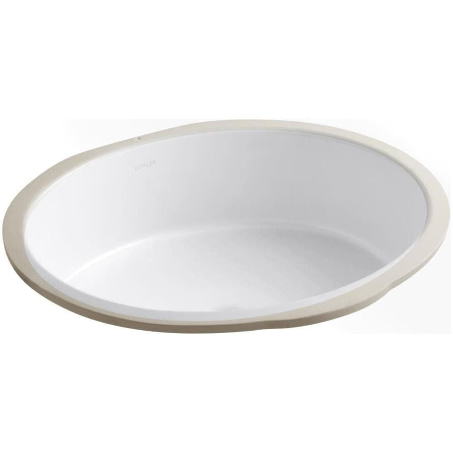 undermount bathroom sink oval shop kohler verticyl white undermount oval bathroom sink 21128