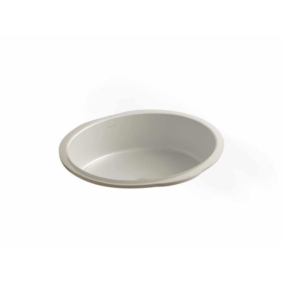 KOHLER Verticyl Sandbar Undermount Oval Bathroom Sink with Overflow