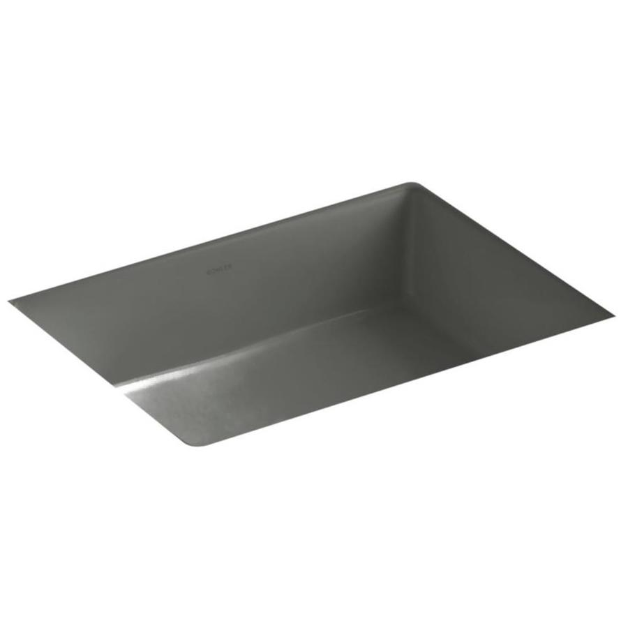 KOHLER Verticyl Ice Grey Undermount Rectangular Bathroom Sink
