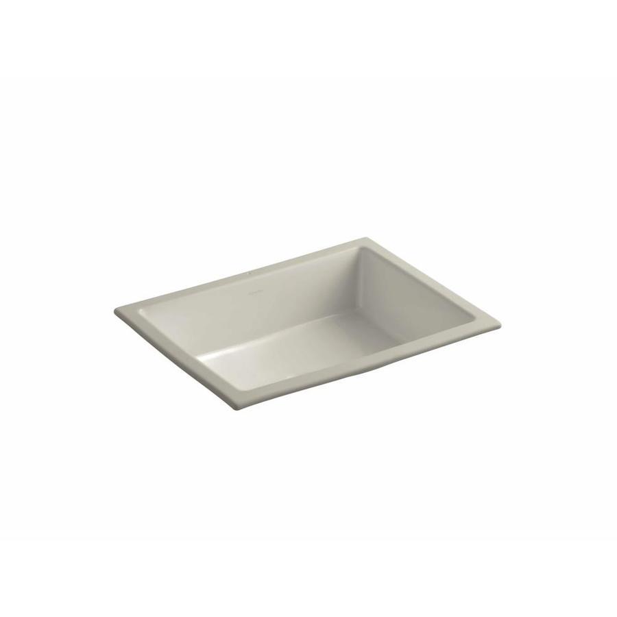 KOHLER Verticyl Sandbar Undermount Rectangular Bathroom Sink with Overflow