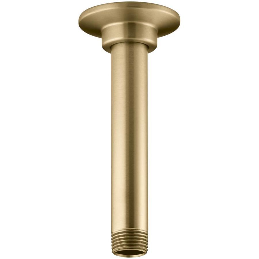 KOHLER Vibrant Moderne Brushed Gold Shower Arm and Flange