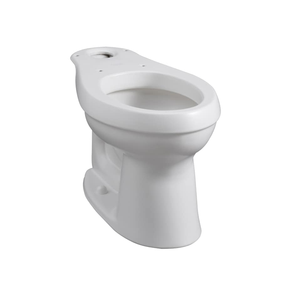 KOHLER Cimarron Chair Height Honed White 12-in Rough-In Elongated Toilet Bowl