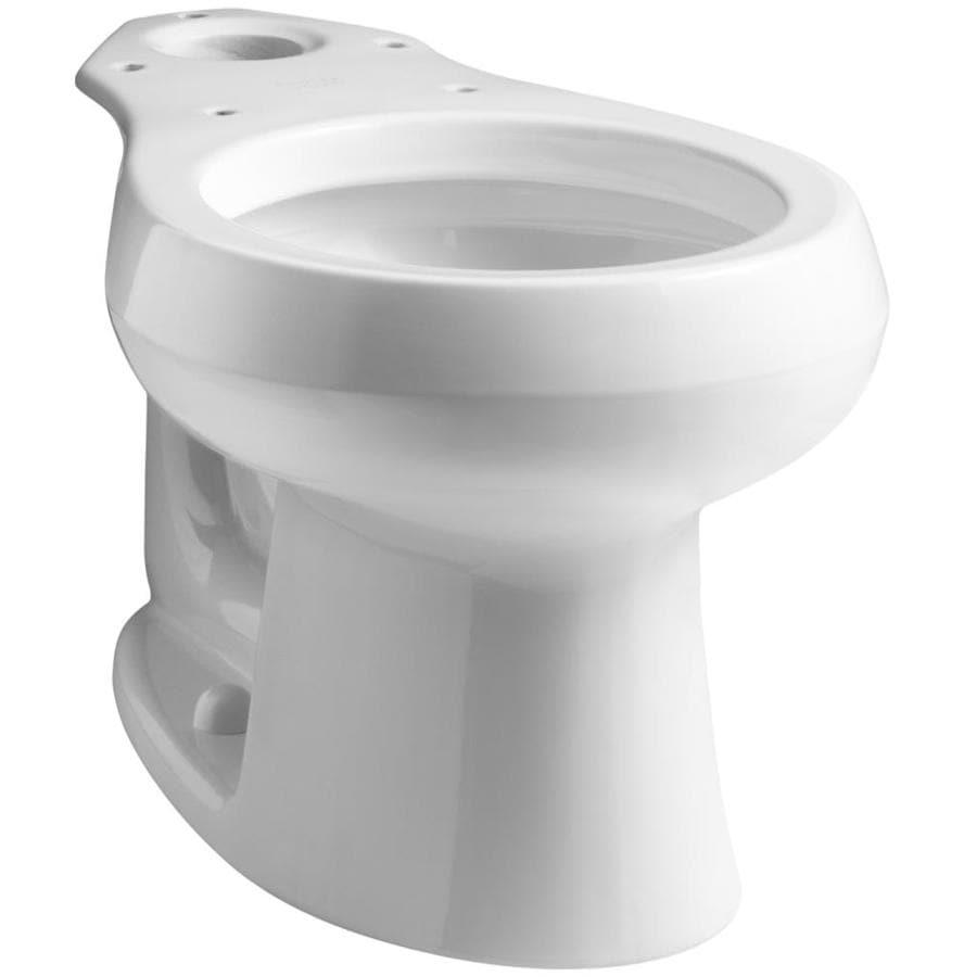 KOHLER Wellworth White Round Height Toilet Bowl