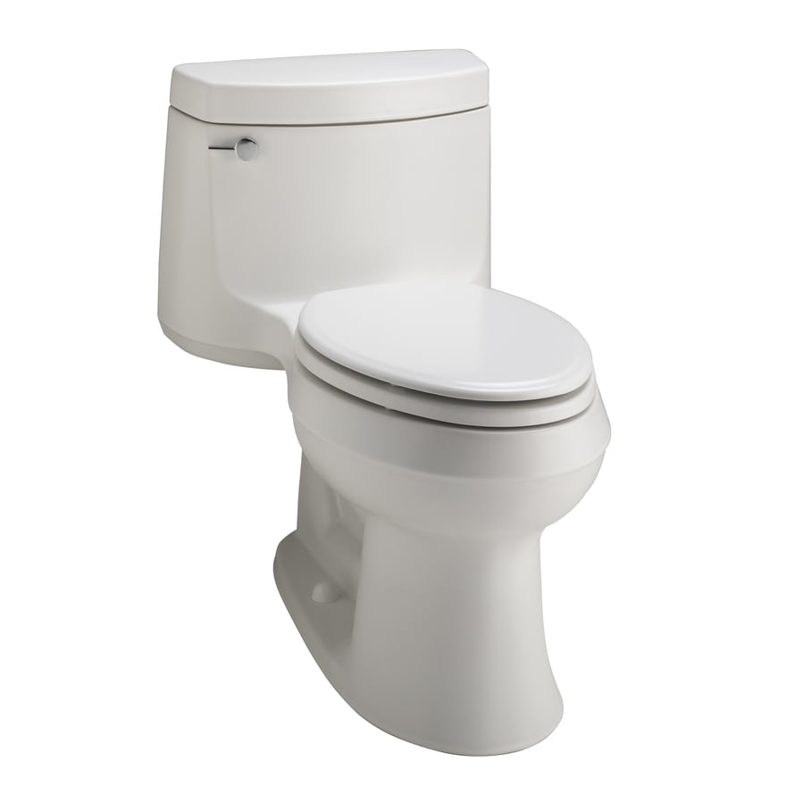 Shop Kohler Cimarron Honed White Elongated 1 Piece Toilet