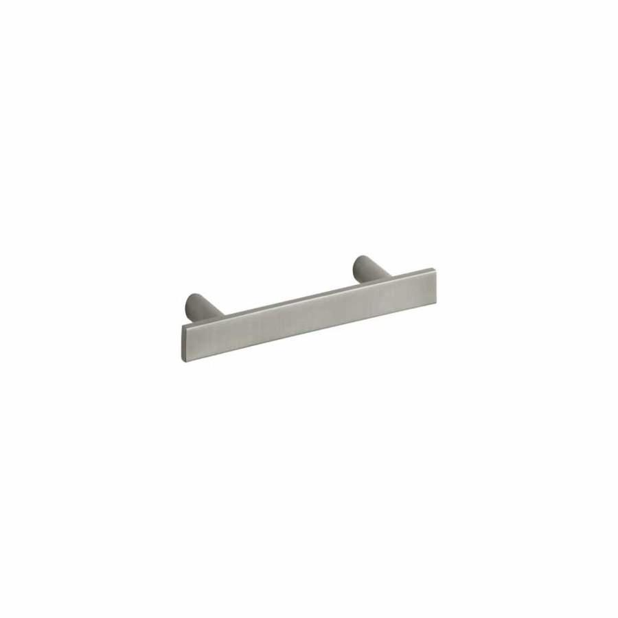 KOHLER 3-in Center-to-Center Vibrant Brushed Nickel Stillness Bar Cabinet Pull