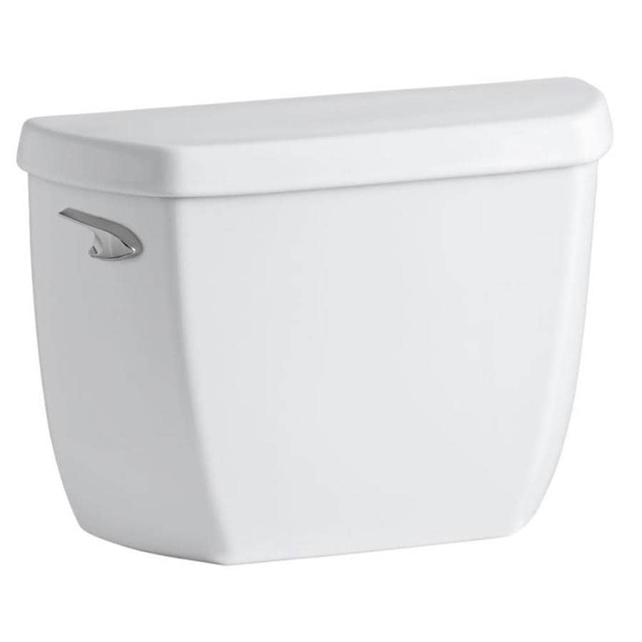 KOHLER Wellworth White 1.28-GPF (4.85-LPF) 12 Rough-In Single-Flush High-Efficiency Toilet Tank