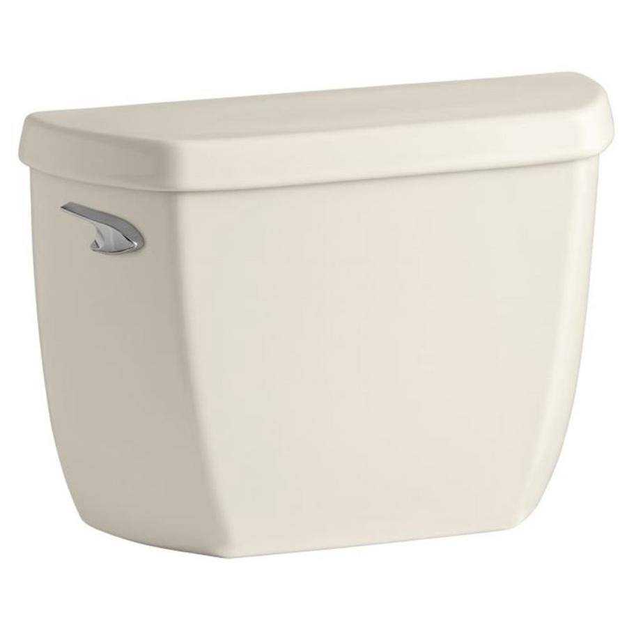 KOHLER Wellworth Almond 1.28-GPF (4.85-LPF) 12 Rough-In Single-Flush High-Efficiency Toilet Tank