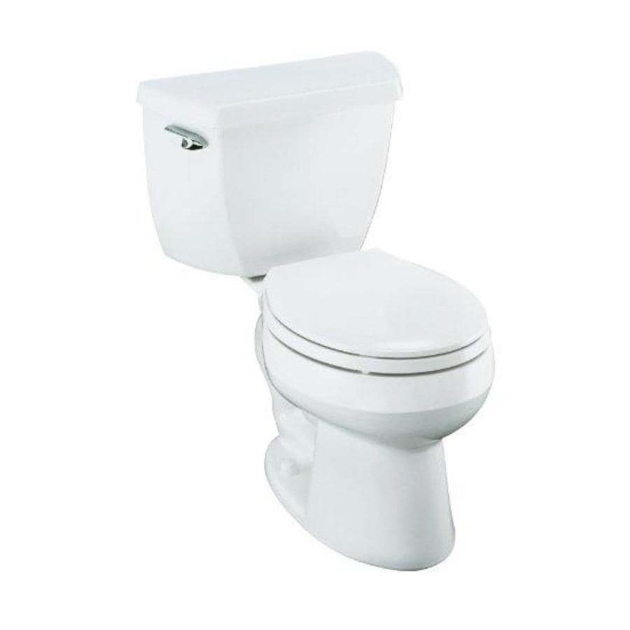 KOHLER Wellworth White 1.28-GPF (4.85-LPF) 12 Rough-In WaterSense Round 2-Piece Standard Height Toilet
