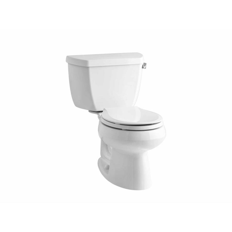KOHLER Wellworth 1.28 White WaterSense Round Standard Height 2-Piece Toilet