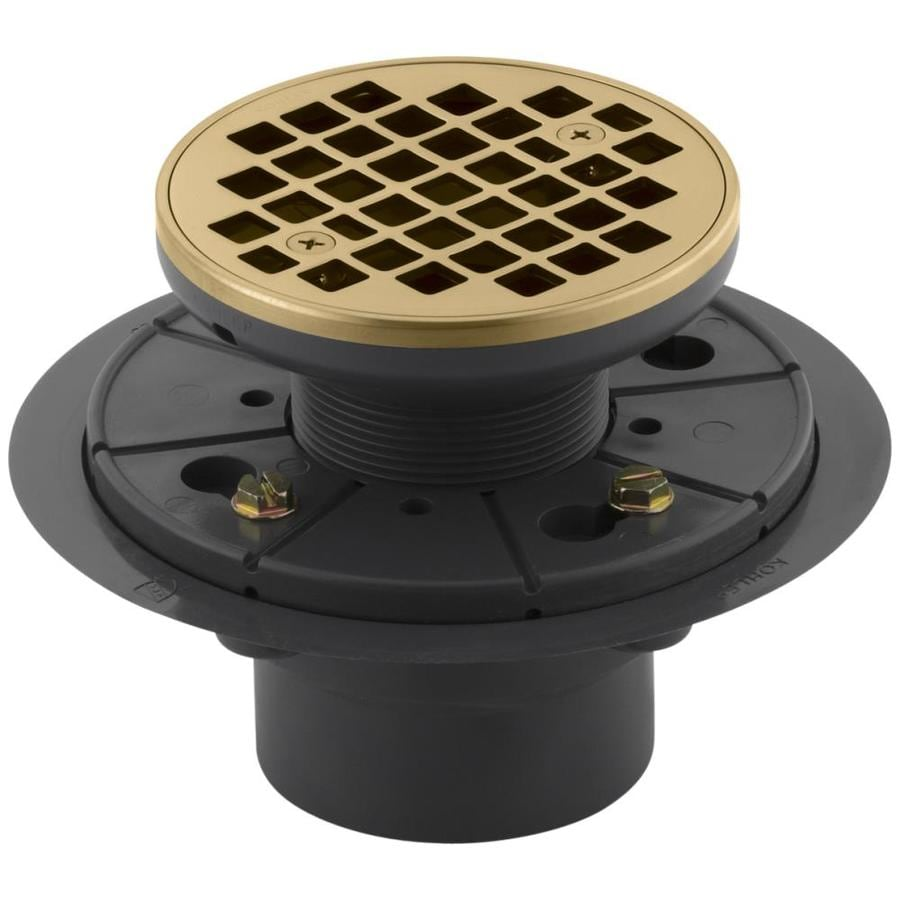 KOHLER Gold Brass Shower Drain
