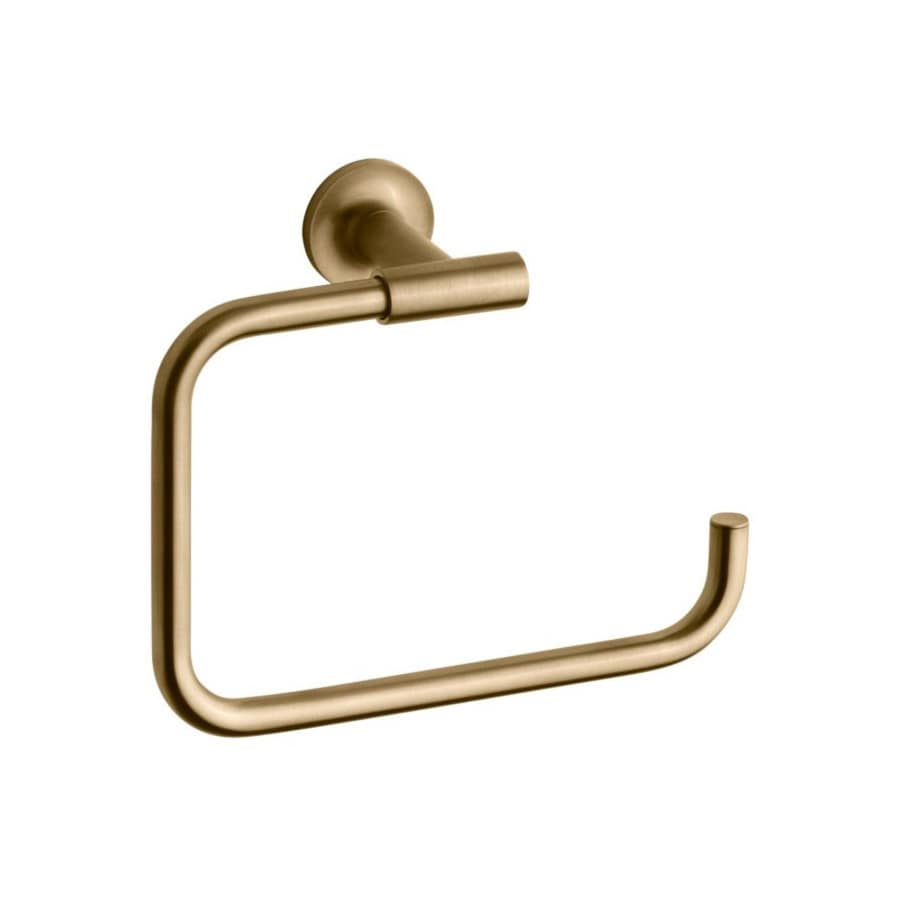 Shop kohler purist vibrant moderne brushed gold wall mount for Brushed gold bathroom accessories