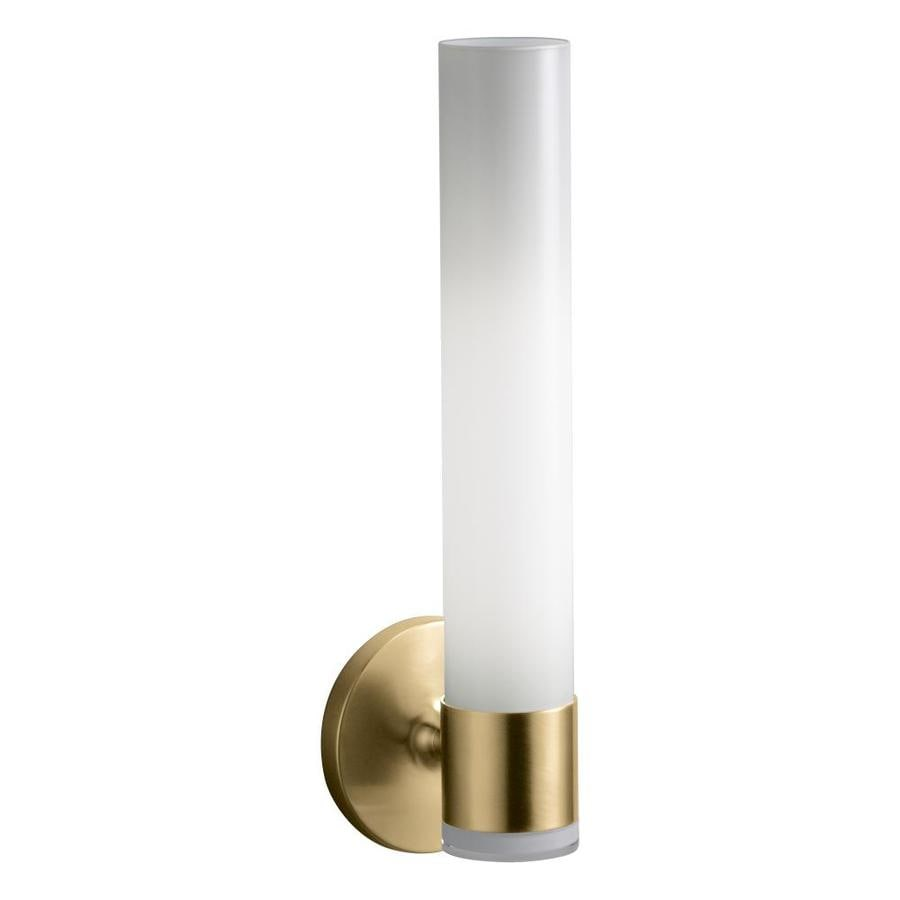 KOHLER Purist 4.75-in W 2-Light Vibrant Moderne Brushed Gold Arm LED Wall Sconce