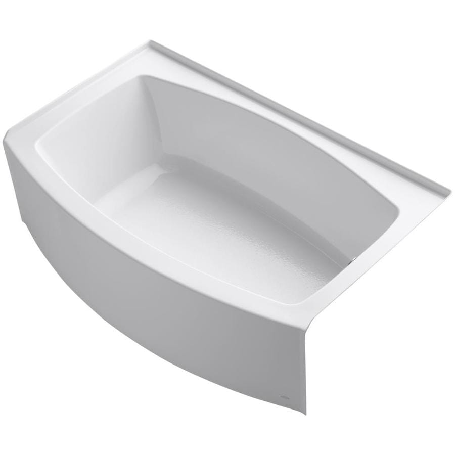 KOHLER Expanse White Acrylic Rectangular Skirted Bathtub with Right-Hand Drain (Common: 38-in x 60-in; Actual: 17-in x 38-in x 60-in)
