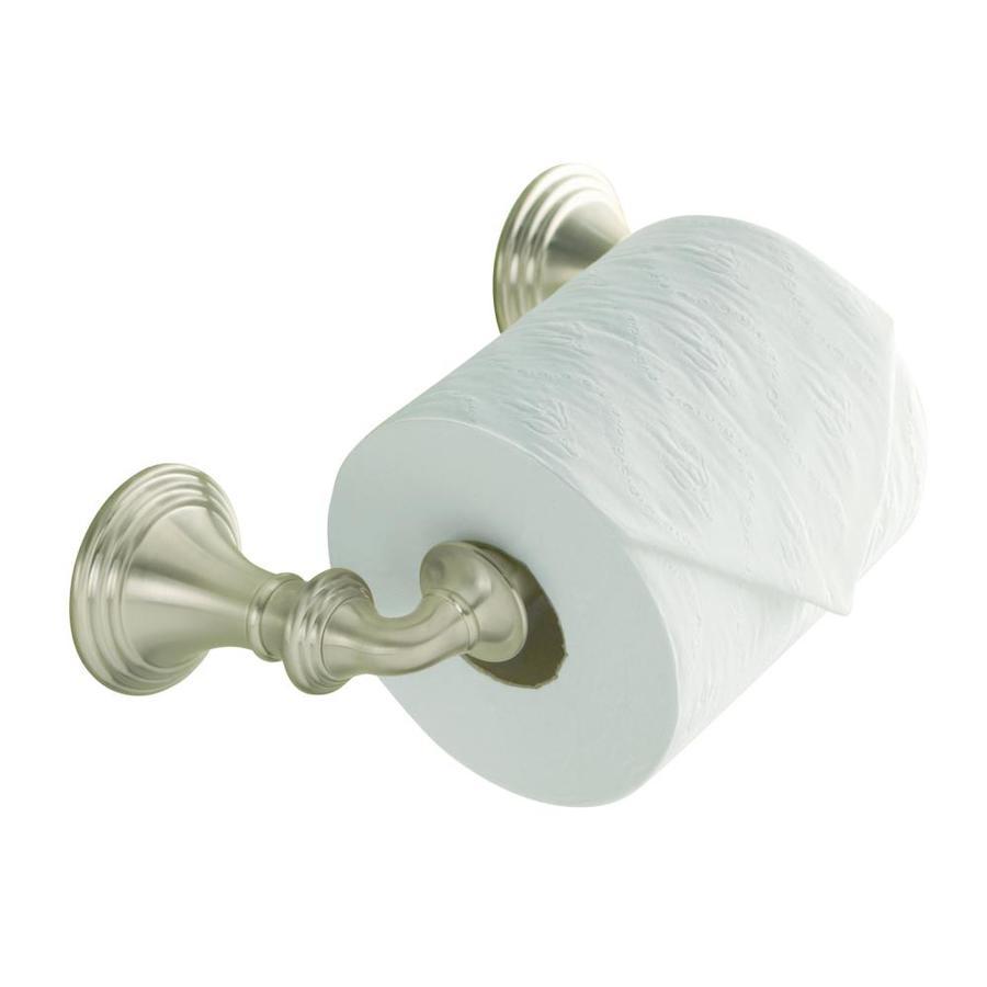 KOHLER Devonshire Brushed Nickel Surface Mount Toilet Paper Holder