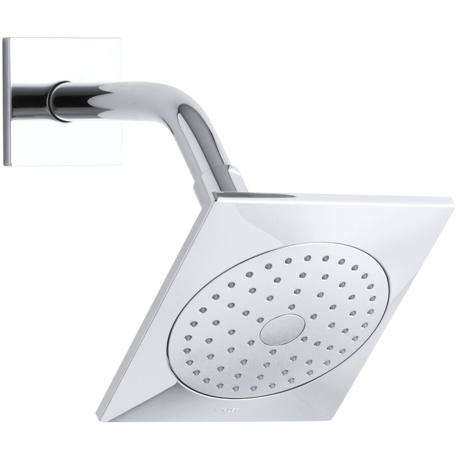 KOHLER Loure 6.3125-in 2.5-GPM (9.5-LPM) Polished Chrome 1-Spray Showerhead