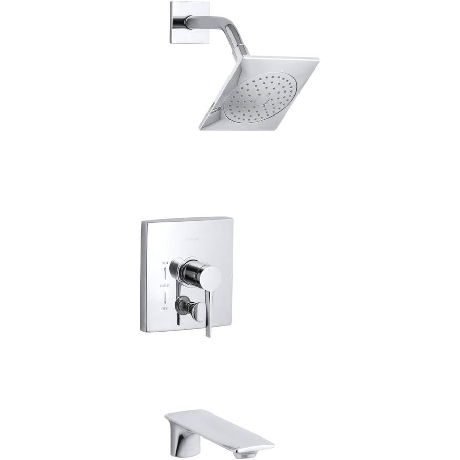 KOHLER Stance Polished Chrome 1-Handle Bathtub and Shower Faucet with Single Function Showerhead