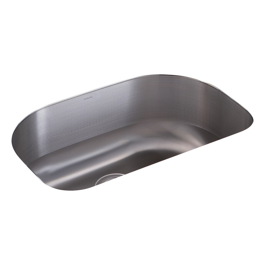Sterling Cinch 16.8125-in x 26.4375-in Luster Single-Basin Stainless Steel Undermount Residential Kitchen Sink