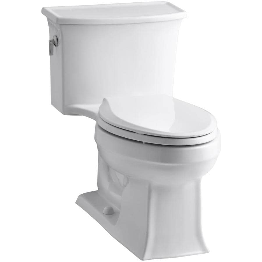 KOHLER Archer 1.28-GPF (4.85-LPF) White WaterSense Elongated Standard Height 1-Piece Toilet