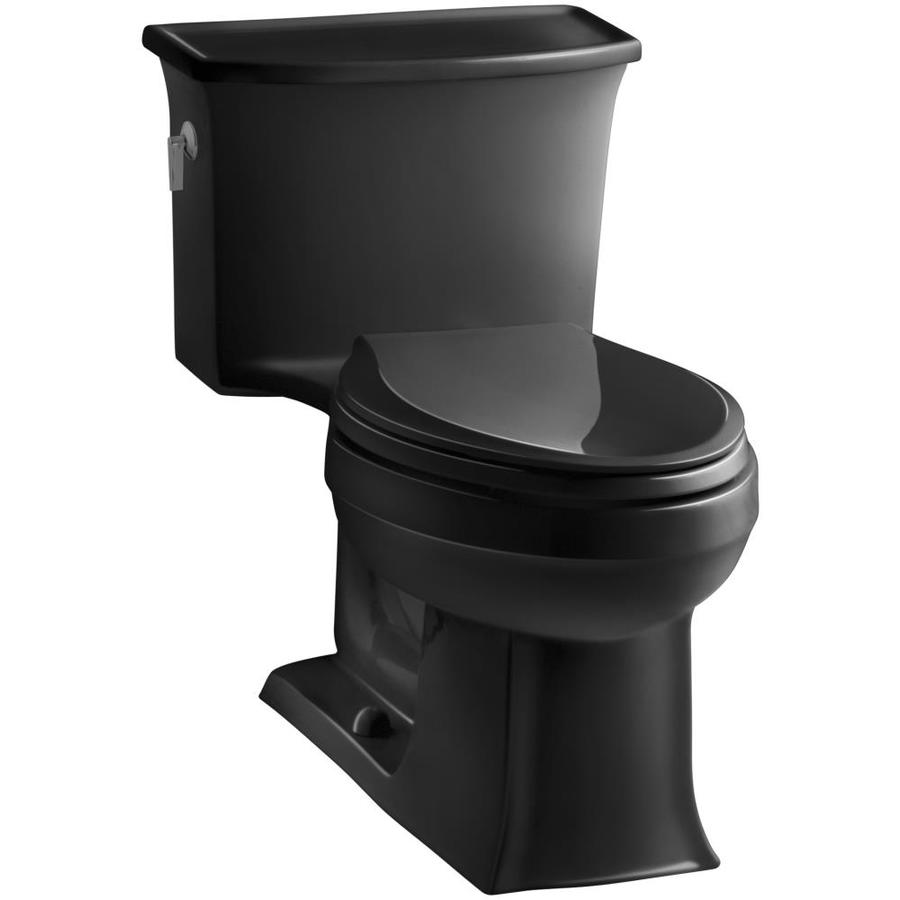 KOHLER Archer 1.28 Black Black WaterSense Elongated Standard Height 1-Piece Toilet