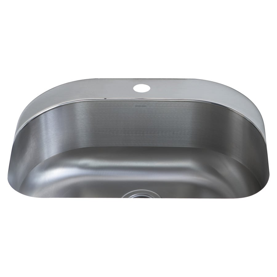 Sterling Cinch 20.375-in x 26.4375-in Luster Single-Basin Stainless Steel Undermount 1-Hole Residential Kitchen Sink