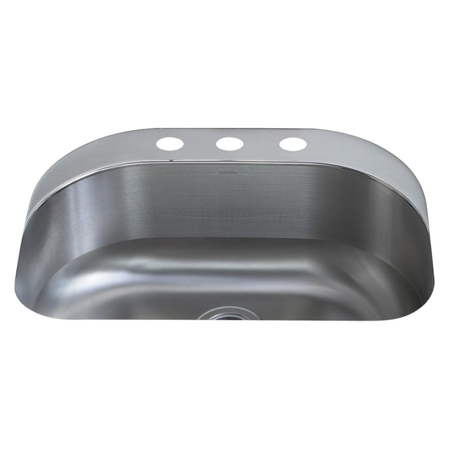 Sterling Cinch 20.375-in x 26.4375-in Luster Single-Basin Stainless Steel Undermount 3-Hole Residential Kitchen Sink