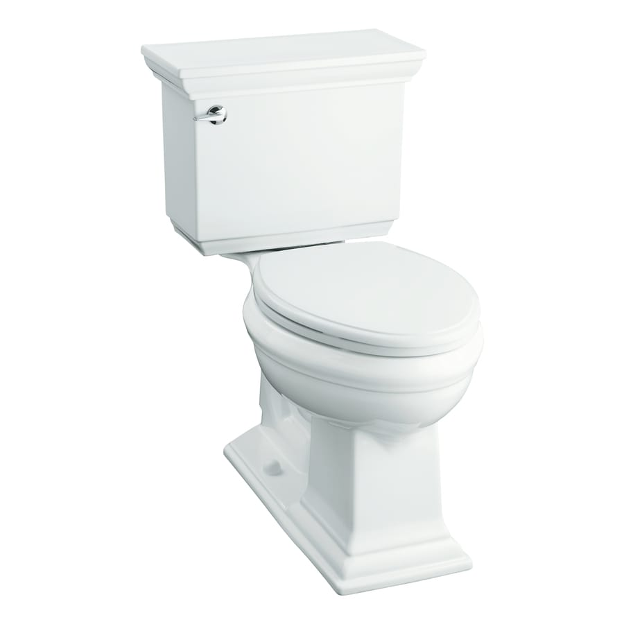 KOHLER Memoirs 1.6-GPF (6.06-LPF) White Chair Height 2-Piece Toilet
