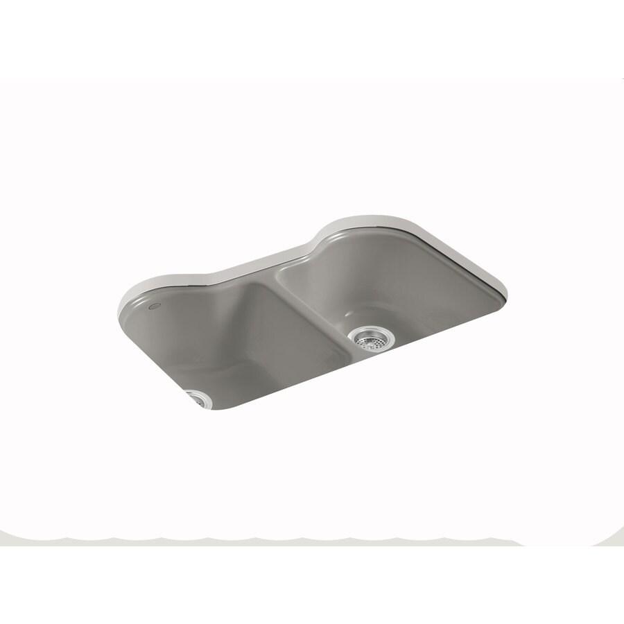 Kohler Undermount Kitchen Sinks Lowes: KOHLER Hartland Double-Basin Undermount Enameled Cast Iron