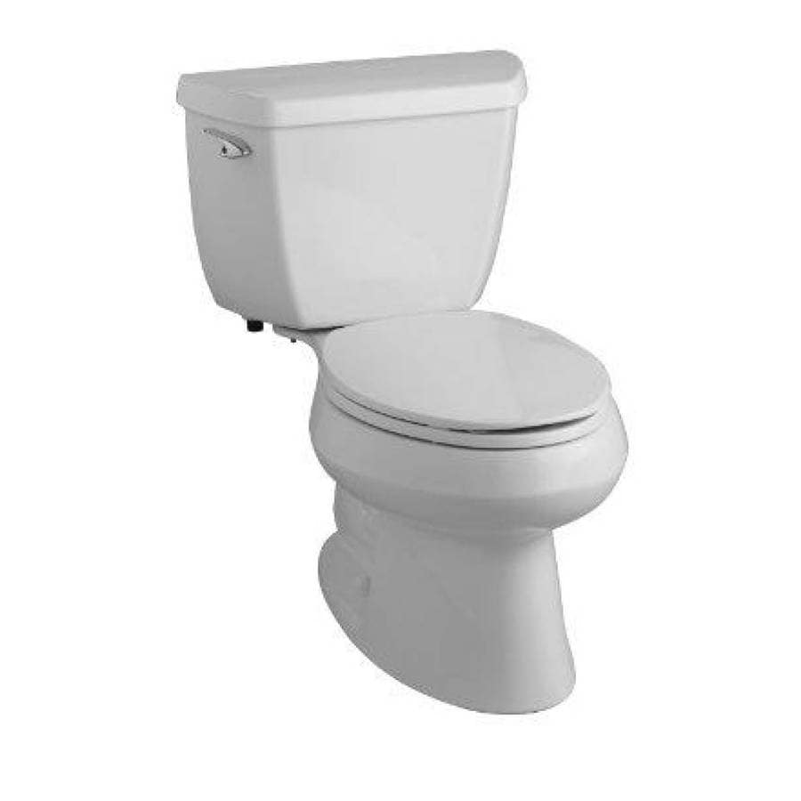 KOHLER Wellworth Ice Grey 1.28-GPF (4.85-LPF) 12-in Rough-In WaterSense Elongated 2-Piece Standard Height Toilet