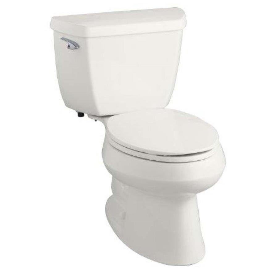 KOHLER Wellworth 1.28 White WaterSense Elongated Standard Height 2-Piece Toilet