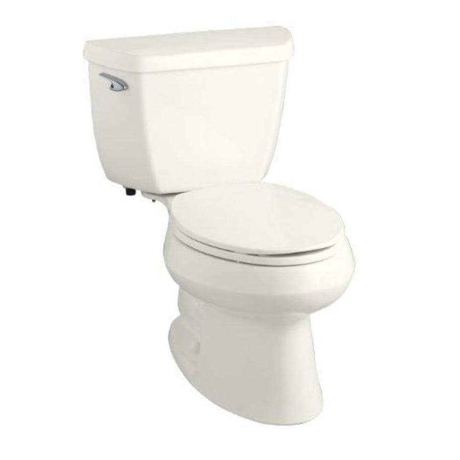KOHLER Wellworth Biscuit WaterSense Labeled  Elongated Standard Height 2-piece Toilet 12-in Rough-In Size