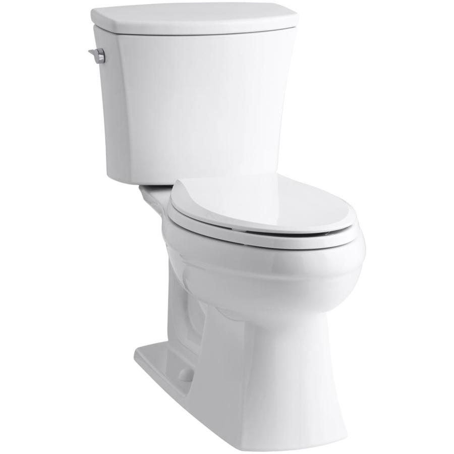 Shop KOHLER Kelston White Elongated Chair Height 2-piece Toilet 12 ...