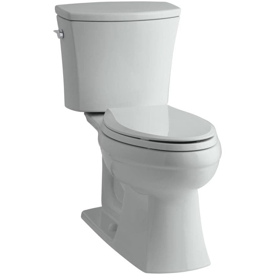 KOHLER Kelston Ice Grey  Elongated Chair Height 2-piece Toilet 12-in Rough-In Size
