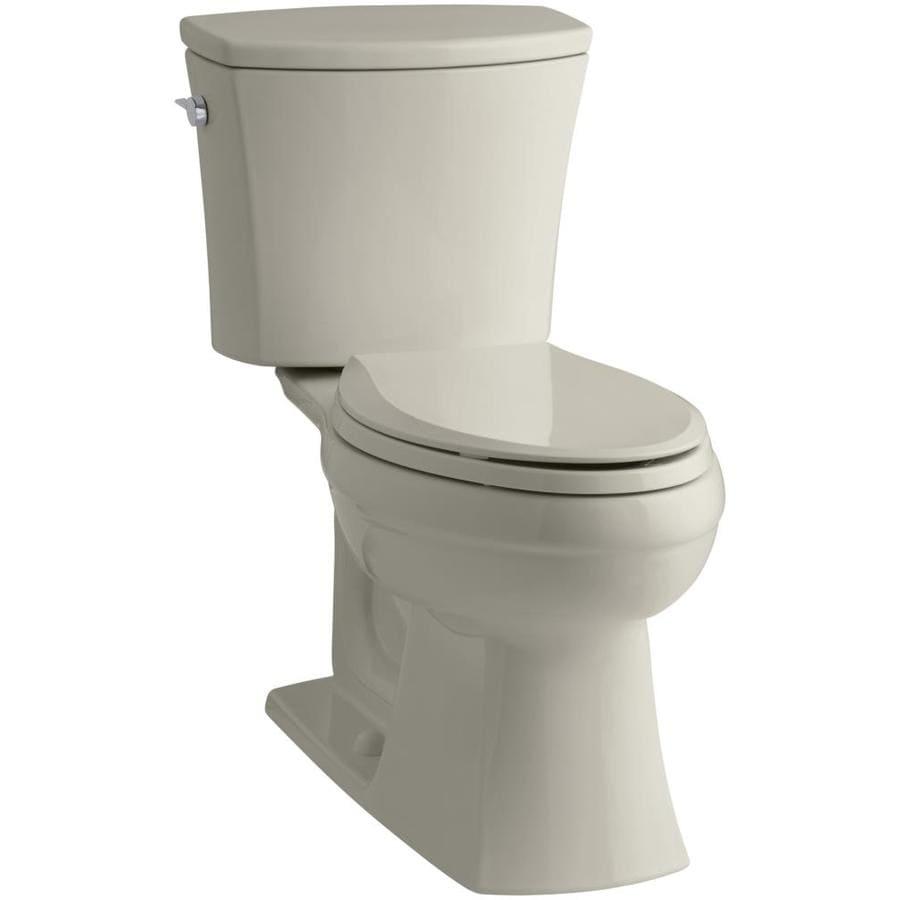 KOHLER Kelston Sandbar 1.6-GPF (6.06-LPF) 12 Rough-In Elongated 2-Piece Chair Height Toilet