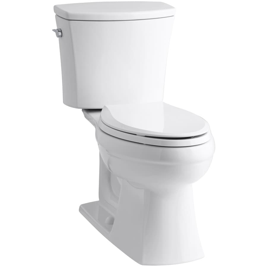 KOHLER Kelston 1.28 White WaterSense Elongated Chair Height 2-Piece Toilet