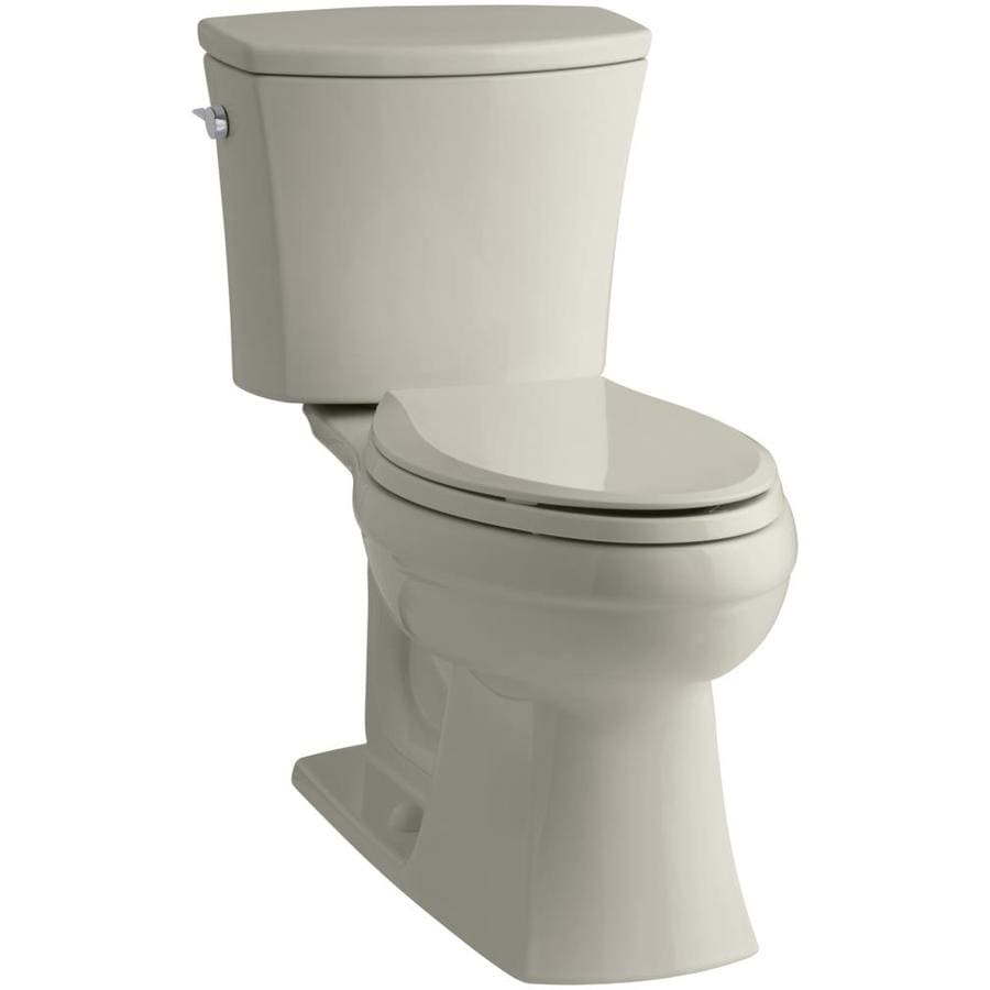KOHLER Kelston 1.28-GPF (4.85-LPF) Sandbar WaterSense Elongated Chair Height 2-Piece Toilet
