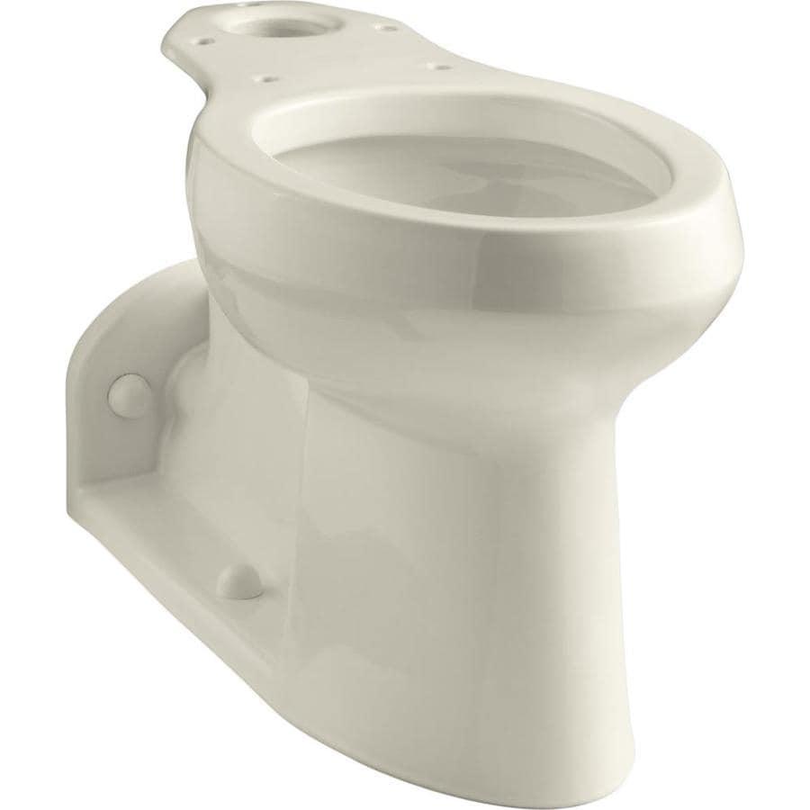 KOHLER Barrington Chair Height Almond 4.5-in Rough-In Pressure Assist Elongated Toilet Bowl