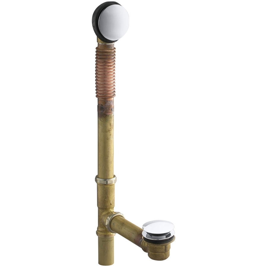 KOHLER 1-1/2-in Polished Chrome Foot Lock with Brass Pipe