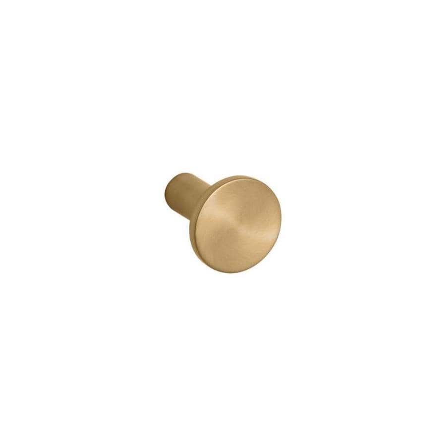 KOHLER Purist Vibrant Moderne Brushed Gold Round Cabinet Knob