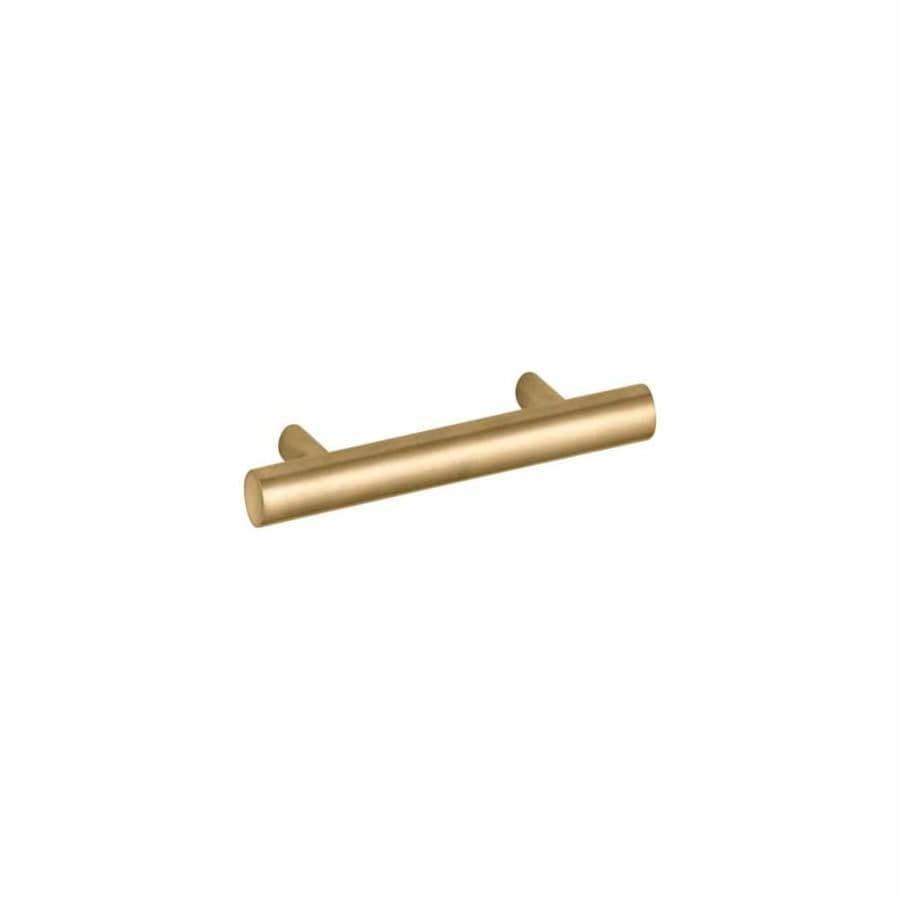KOHLER 4-in Center-to-Center Vibrant Moderne Brushed Gold Purist Bar Cabinet Pull