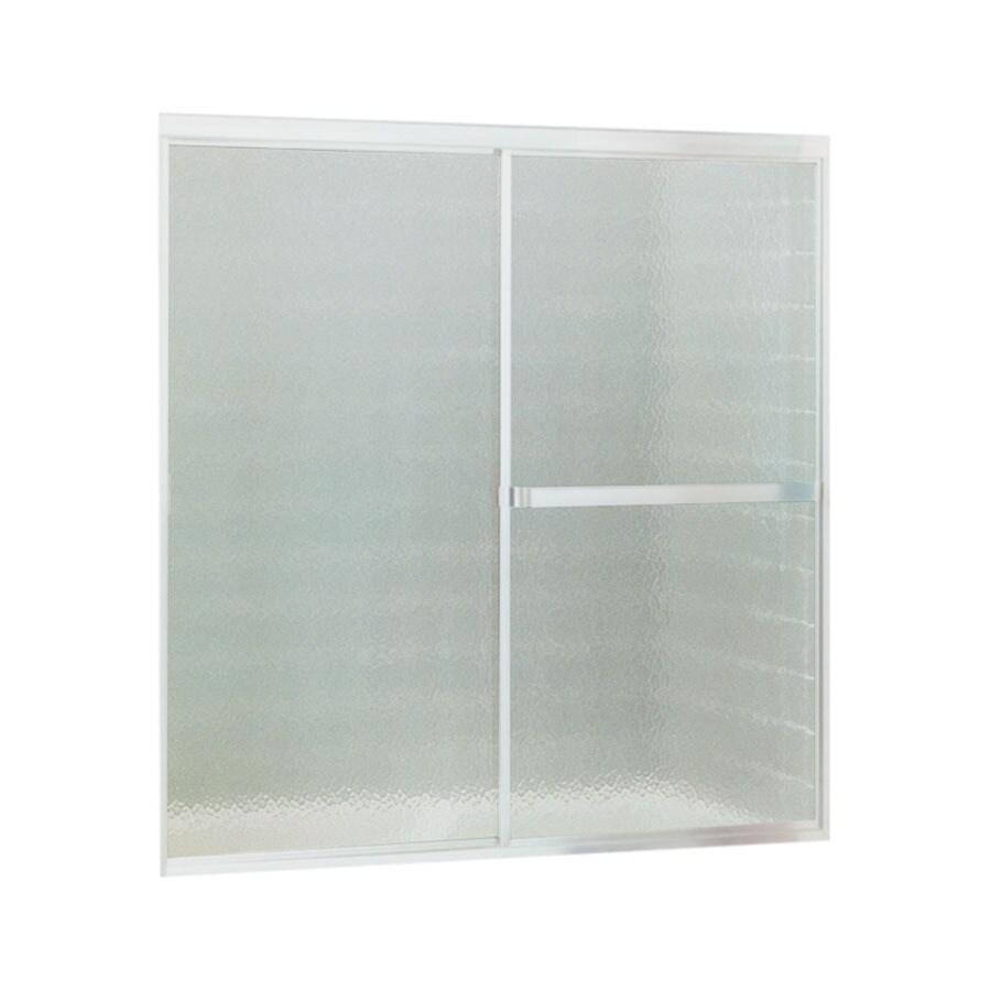 Sterling Standard 56-in W x 56.4375-in H Matte Chrome Bathtub Door