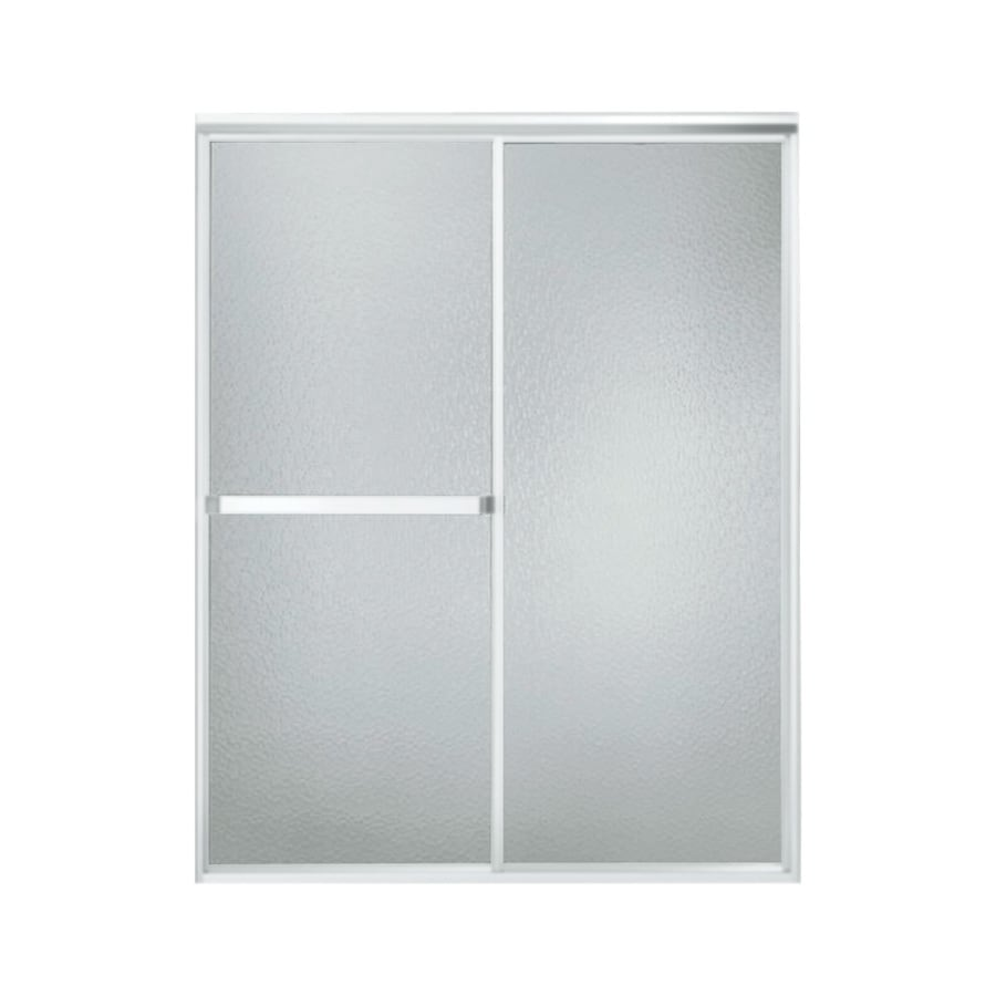 Sterling 51-in to 56-in W x 65-in H Matte Chrome Sliding Shower Door