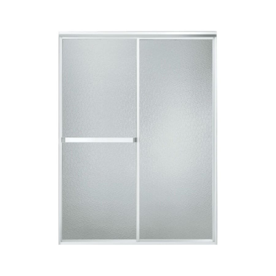 Sterling Standard 54-in to 59-in W Framed Matte Chrome Sliding Shower Door