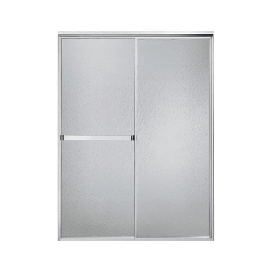 Sterling Standard 54-in to 59-in Framed Silver Sliding Shower Door