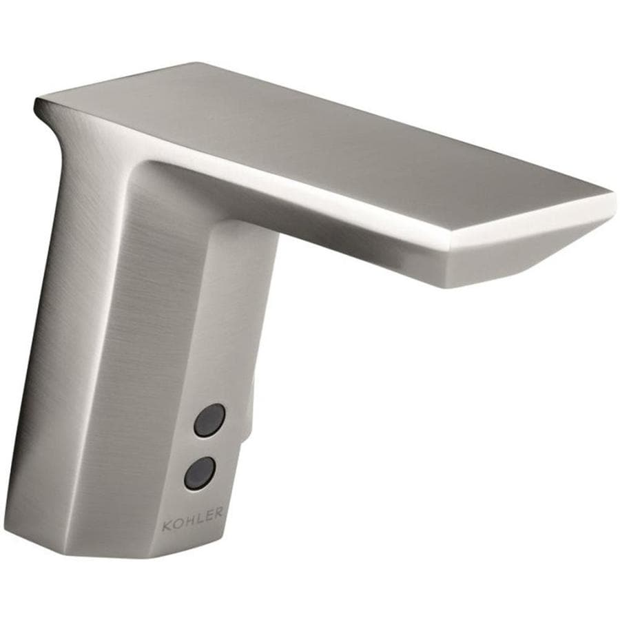 Shop Kohler Vibrant Stainless Touchless Single Hole Bathroom Faucet At