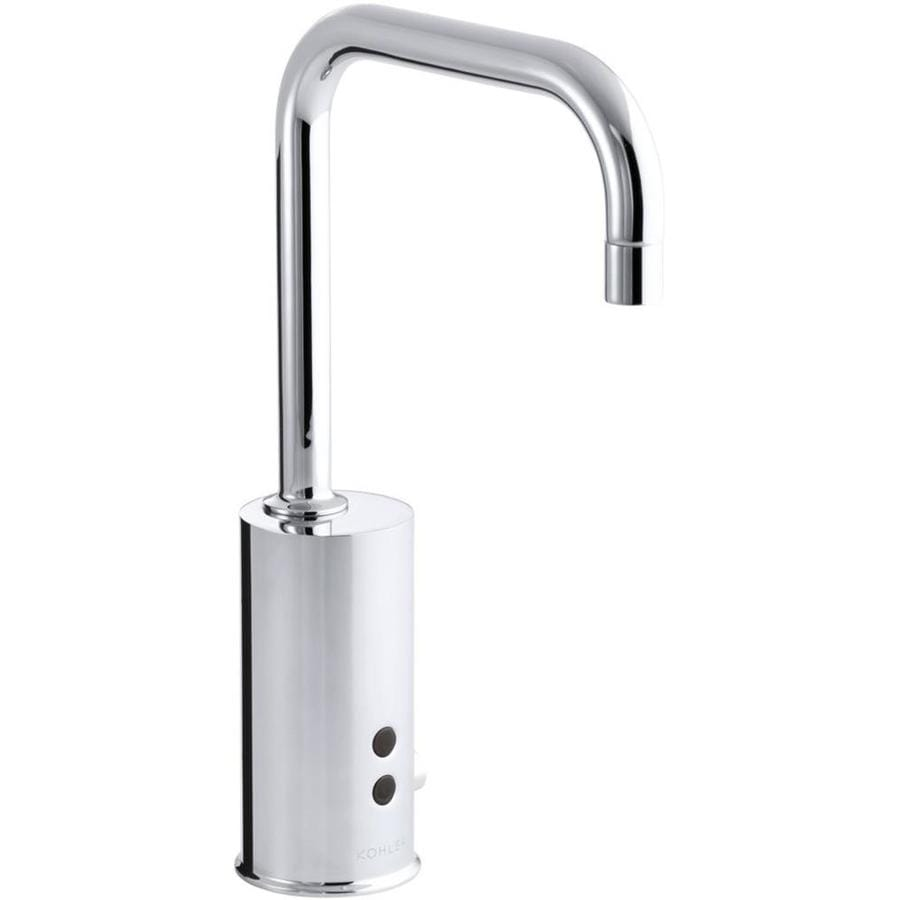 Shop KOHLER Polished Chrome Touchless Single Hole Bathroom Faucet At